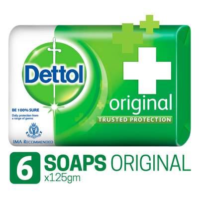 Dettol Bathing Soap Original, 125gm, Pack of 6