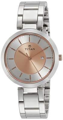 Titan Ladies Neo-Ii Analog Rose Gold Dial Women's Watch-NL2480KM01
