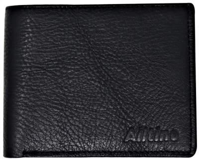 Ailtino Men Black Genuine Leather Wallet Black