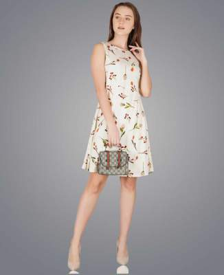 [Pre-Book] Metro Fashion Women A-line White Dress