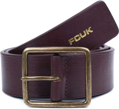[Pre-Book] French Connection Men Brown Genuine Leather Belt