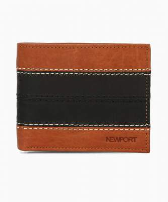 [Pre-Book] Newport Men Black, Brown Genuine Leather Wallet