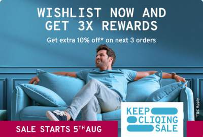 TataCliq Cliqing Sale: Wishlist Products & Get 3X Rewards