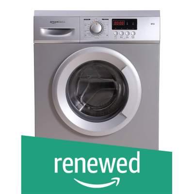 (Renewed) AmazonBasics 6 Kg Fully-Automatic Front Loading Washing Machine (AB6FAFL008_cr, Grey/Silver)