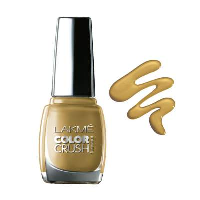 Lakme True Wear Color Crush Nail Color, Gold 01, 9ml