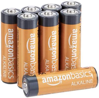 AmazonBasics AA Performance Alkaline Non-Rechargeable Batteries (8-Pack)...