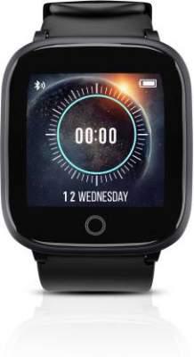 Syska SW100 Smartwatch (Black Strap, Free Size)