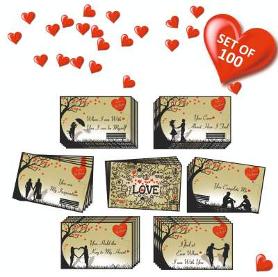 Vantagekart 100 Romantic Cards Why I Love You with Reasons Which is Ideal for Valentine Day