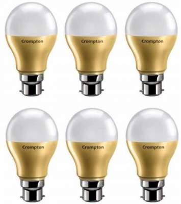 Crompton 9 W Round B22 LED Bulb  (White, Pack of 6...