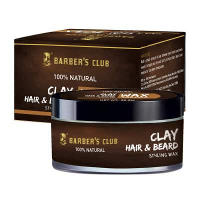 Barber's Club Beard and Moustache Wax with Tea Tre...