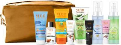 VLCC Nourish & Shine Kit with Pouch  (9 Items in s...