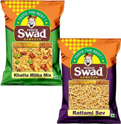Swad Namkeen Ratlami Sev & Khatta Meetha Mixture, ...