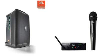 JBL Eon One Compact - AKG WMS40 Microphone System...