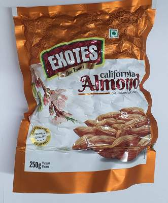 Exotes Popular Almonds Vacuum Pouch 500g( 250g x2)