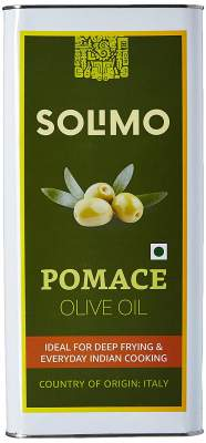 Amazon Brand - Solimo Pomace Olive Oil, 5l...