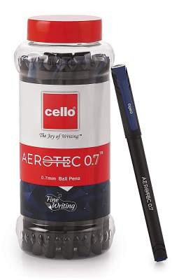 Cello Aerotec Ball Pens (20 Pens Jar - Blue) | Bal...