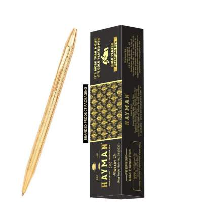 Hayman Gold Plated Sleek Ball Pen with Box (Pack o...