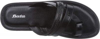 BATA Men's Biden Brown Leather Hawaii Thong Sandals-8 UK/India
