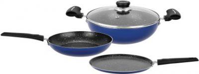 Renberg Blue Orchid Cookware Set  (Aluminium, 4 - Piece)
