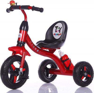 Toy House Titan Tricycle with Water Bottle, Red