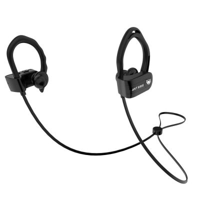 Ant Audio Sports 115 Bluetooth Headphone, Wireless Noise Cancelling HD Stereo with Mic, Hooked Earbuds with Neckband