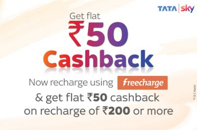 Tatasky: Get Rs.50 Cashback On Minimum Recharge Of Rs.200