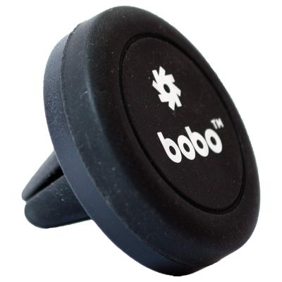 BOBO Universal Magnetic Air Vent Mount Car Phone Holder, with Fast Swift Technology for Smartphones and Mini Tablets (Black)