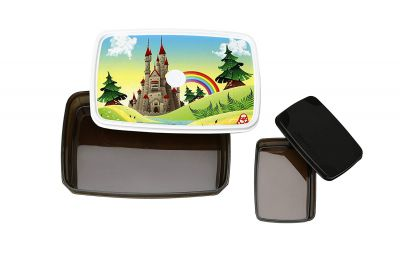 Signoraware Castle Easy Plastic Lunch Box Set, 2-Pieces, Dark Cocoa