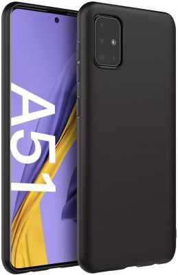 Frivety Back Cover for Samsung Galaxy A51 Cover Case Slim Flexible Soft Back Cover Case for Samsung Galaxy A51 (Matte Black