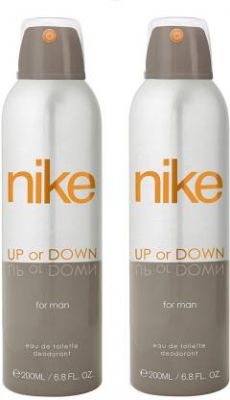 Nike Up Or Down Deodorant Spray - For Men (400 ml, Pack of 2)