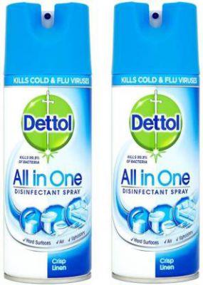 Dettol All In One Disinfectant Spray Crisp Linen 400ml Pack Of 2 Ocean
