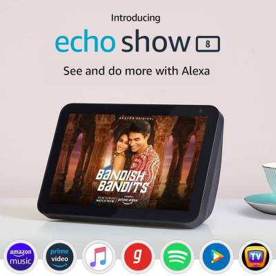 Introducing Echo Show 8 – Smart display with Alexa - 8 Inch HD screen with stereo sound