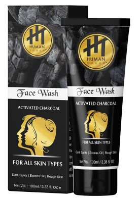 Human Touch Unisex Charcoal Facewash For All Skin Types (100 ML)