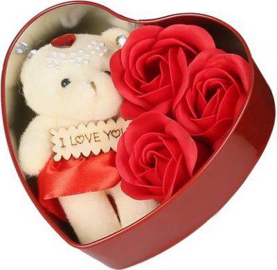 Webelkart Soft Toy, Artificial Flower Gift Set