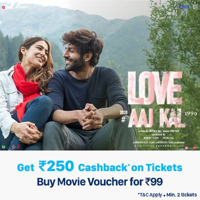 100% Cashback up to Rs.250 on Love Aaj Kal 2 movie