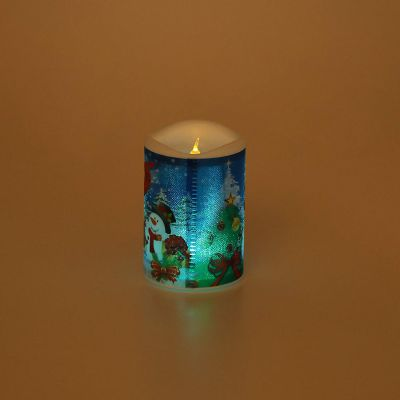 Forzza FO-LCL006-c Vesha Flameless LED Pillar Candle (Pack of 4, Multicolour)