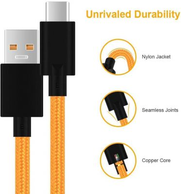 KMNIC Type C Dash Charging USB Data Cable for