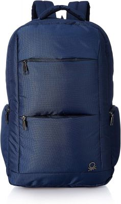 United Colors of Benetton 24 Ltrs Navy Blue Laptop Backpack