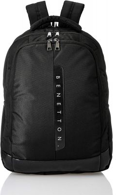 United Colors of Benetton 24 Ltrs Black Laptop Backpack