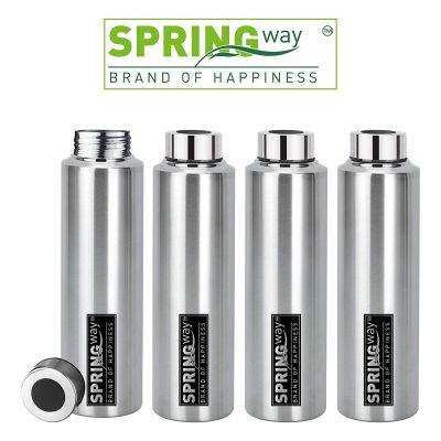 SPRINGWAY Eco-Neer Stainless Steel Water Bottle 1000ml (Set of 4)