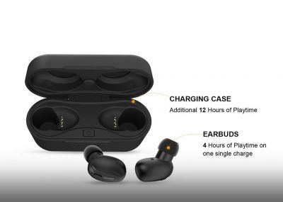 Jabees Beeing Advanced Situational Awareness True Wireless Earbuds with Qi-Enabled Wireless Charging Case