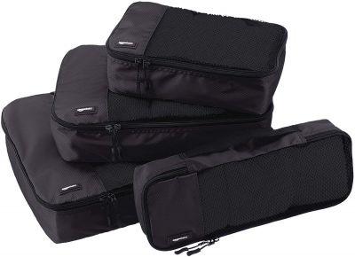 AmazonBasics Bag Organizer Packing Cubes - Small, Medium, Large, and Slim (4-Piece Set)