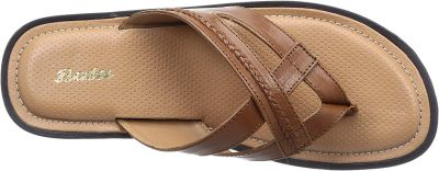 BATA Men's Bent Leather Hawaii Thong Sandals