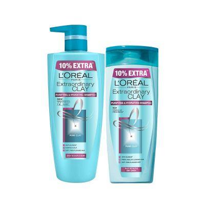 L'Oreal Paris Extraordinary Clay Shampoo, 1L (640ml+360ml) - Combo pack of 2