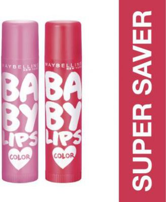 Maybelline Baby Lips Pink Lolita and Cherry Kiss (Pack of: 2, 8 g)