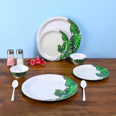 Iveo Fantastic Melamine Dinnerware Set, 8-Pieces, Ever Green