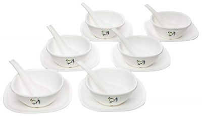 Signoraware Drop Scapes Plastic Soup Bowl Set, 220ml/74mm, Set of 6