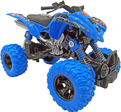 Popsugar Pull Back ATV Monster Bike with Rubber Wheels for Kids
