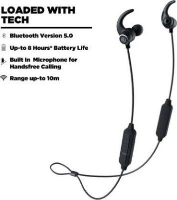 Nu Republic Jaxx 3- Black Bluetooth Headset with Mic