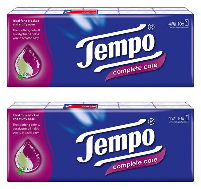 Tempo Pocket Handkerchief Complete Care 4-ply (20 packs)
